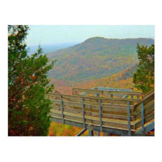 Hiking Bridge Way Above The Mountains Postcard