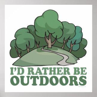 Hiking, Camping, Trekking, Climbing Outdoors! Poster