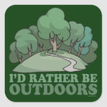 Hiking, Camping, Trekking, Climbing Outdoors! Square Sticker
