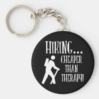 Hiking, Cheaper Than Therapy Keychains
