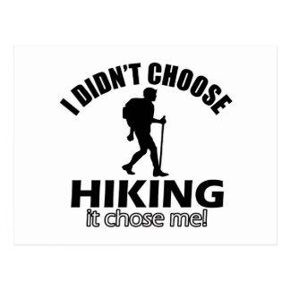 Hiking design postcard