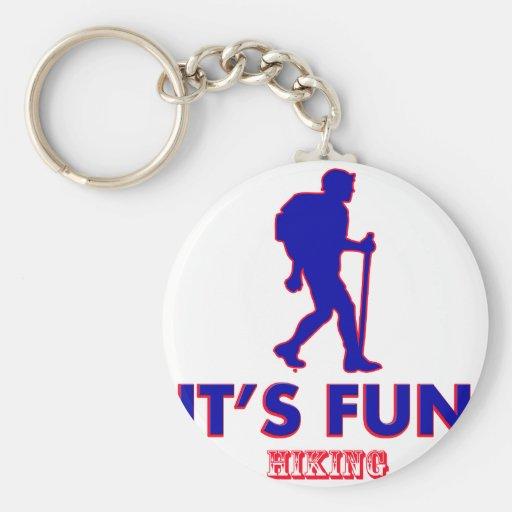hiking designs key chains