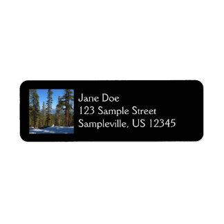 Hiking Down from Mitchell Peak at Sequoia Return Address Label
