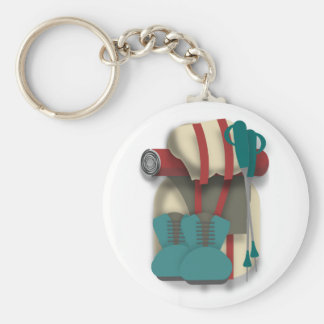 Hiking Equipment Key Ring
