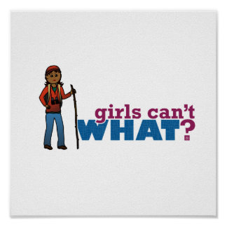 Hiking Girl Posters