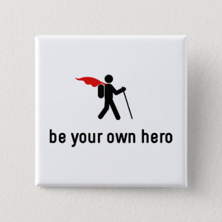 Hiking Hero 15 Cm Square Badge