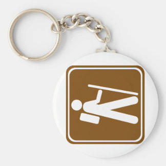 Hiking Highway Sign Keychains