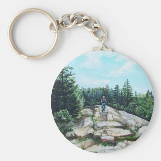 Hiking in Maine Key Chains
