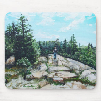 Hiking in Maine Mouse Pad