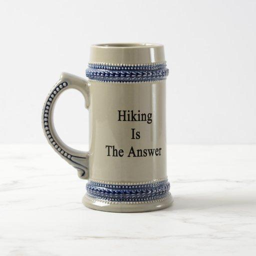 Hiking Is The Answer Coffee Mug