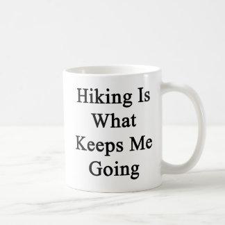 Hiking Is What Keeps Me Going Classic White Coffee Mug