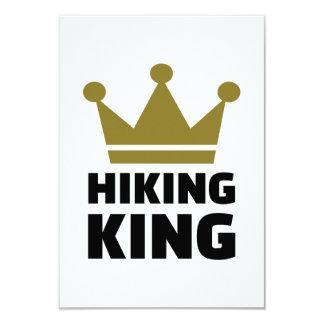Hiking king 3.5x5 paper invitation card