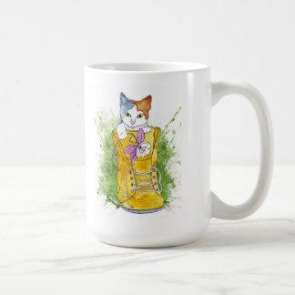 Hiking Kitty Basic White Mug