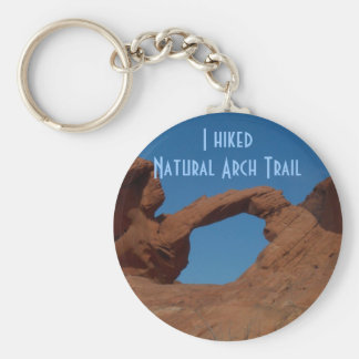 Hiking Natural Arch Trail Basic Round Button Key Ring