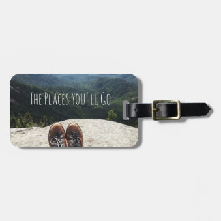 Hiking On Top of the World Luggage Tag VII