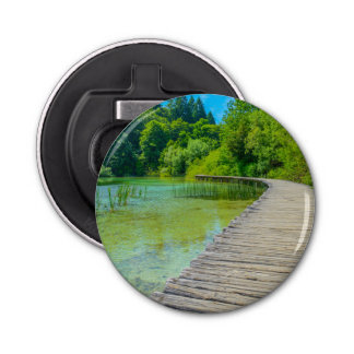 Hiking Path in Plitvice National Park in Croatia Bottle Opener