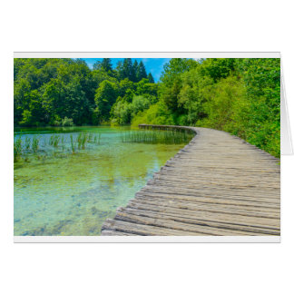 Hiking Path in Plitvice National Park in Croatia Card