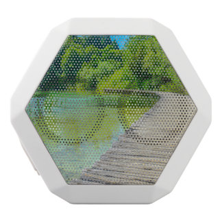 Hiking Path in Plitvice National Park in Croatia White Bluetooth Speaker