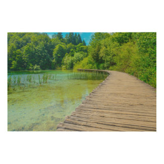 Hiking Path in Plitvice National Park in Croatia Wood Wall Art