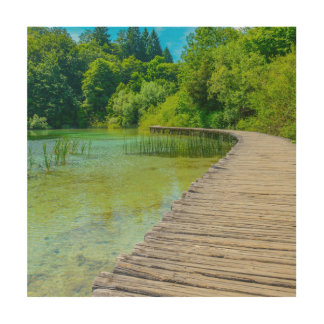 Hiking Path in Plitvice National Park in Croatia Wood Wall Decor