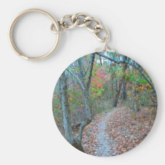 Hiking Right Up The Hill Keychains