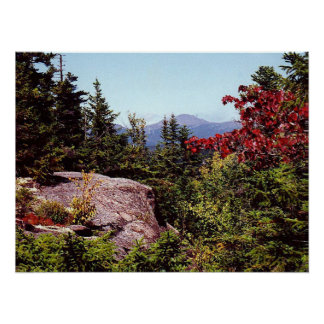 Hiking Scenic White Mountains New Hampshire Poster