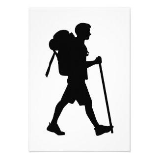 Hiking stick backpack custom announcement