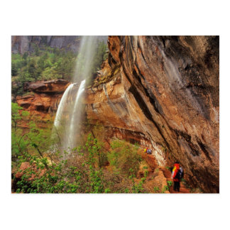 Hiking The Emerald Pools Trail in Zion National Postcard