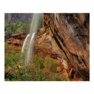 Hiking The Emerald Pools Trail in Zion National Poster