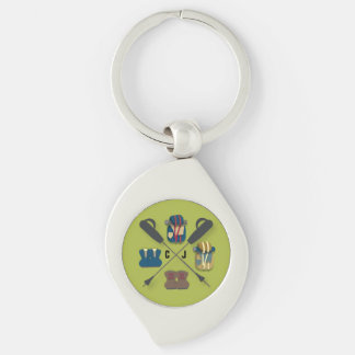 Hiking Themed Key Ring
