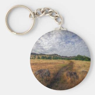 Hiking Trail Basic Round Button Key Ring
