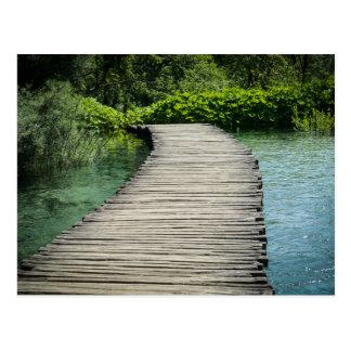 Hiking Trail in Plitvice National Park in Croatia Postcard