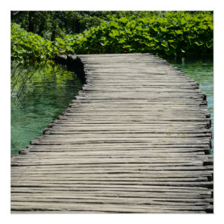Hiking Trail in Plitvice National Park in Croatia Poster