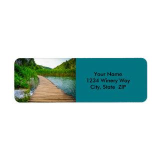 Hiking Trail in Plitvice National Park in Croatia Return Address Label