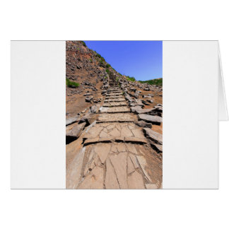 Hiking trail leading up the mountain on Madeira Card