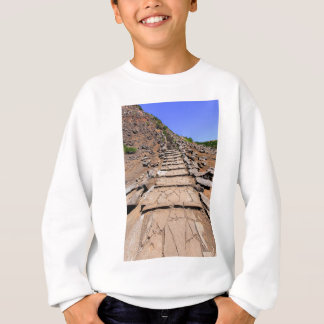 Hiking trail leading up the mountain on Madeira Sweatshirt