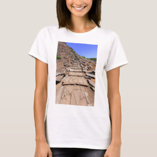 Hiking trail leading up the mountain on Madeira T-Shirt