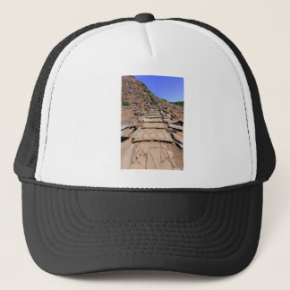 Hiking trail leading up the mountain on Madeira Trucker Hat