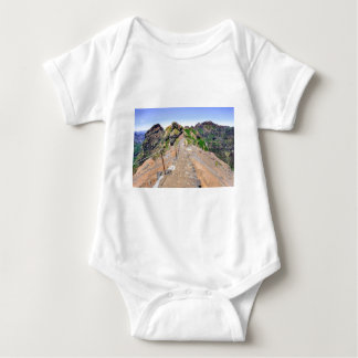 Hiking trail up in mountains on Madeira Portugal. Baby Bodysuit