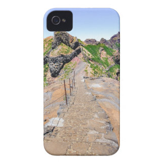 Hiking trail up in mountains on Madeira Portugal. iPhone 4 Cases