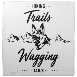 Hiking Trails Wagging Tails Napkin