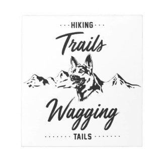 Hiking Trails Wagging Tails Notepad