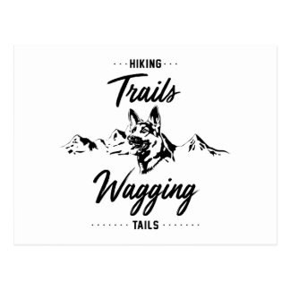Hiking Trails Wagging Tails Postcard