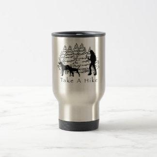 Hiking With Dogs Travel Mug-Ridgeback/Coonhound Stainless Steel Travel Mug
