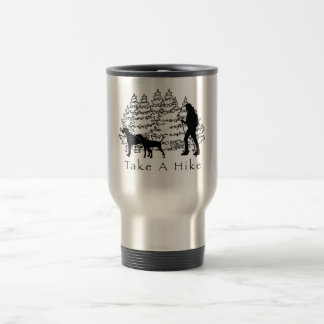 Hiking With Dogs Travel Mug-Ridgeback/Coonhound Travel Mug