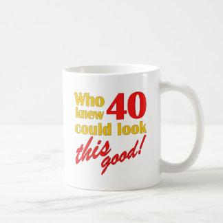 Hilarious 40th Birthday Gifts Basic White Mug