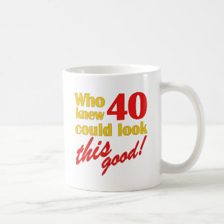 Hilarious 40th Birthday Gifts Mugs