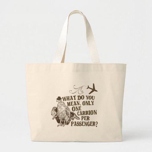 Hilarious Airline Joke Shirt Tote Bag
