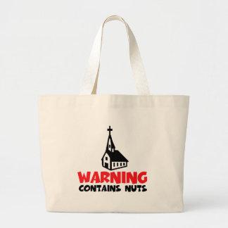 Hilarious atheist jumbo tote bag