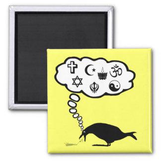 Hilarious atheist square magnet